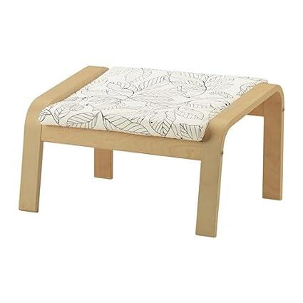 Amazon.com: IKEA Ottoman Cushion, Vislanda Black/White ...