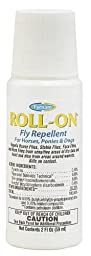 Farnam Roll-On Fly Repellent for Horses, Ponies and Dogs, 2-Ounce