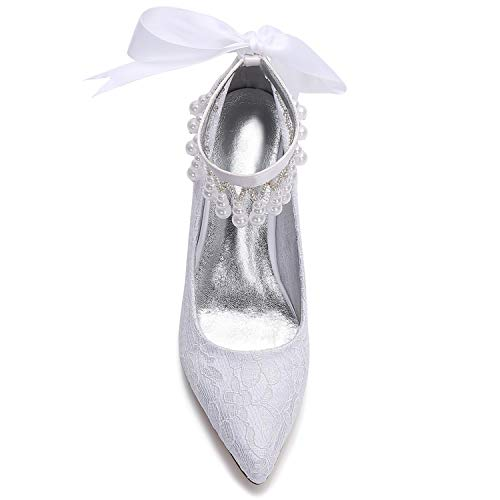5 Elobaby High Kätzchen Hochzeit Blumen 7 Kleid Plattform cm Frauen Heels Klassische Ferse Braut Party Schuhe 11ROUr