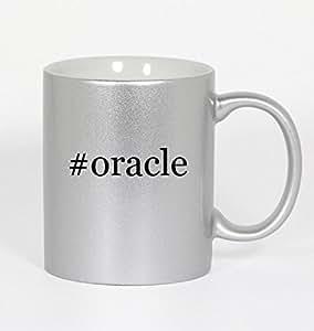 #oracle - Funny Hashtag 11oz Silver Coffee Mug Cup