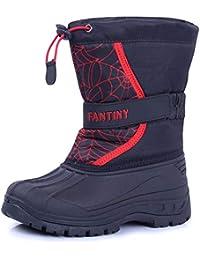 Boy & Girls Snow Boots Winter Outdoor Waterproof Fur...