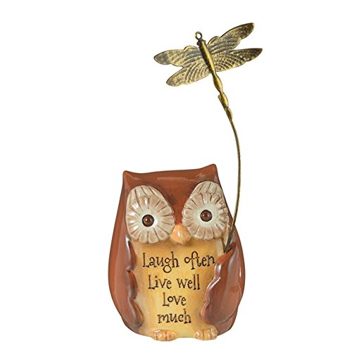 Grasslands Road Mini Inspirational Owl Figurine, 470792 (Laugh Often Live Well Love Much)