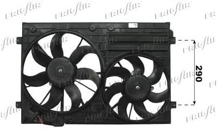 frigair 0510.2020 Ventilador, refrigeración del motor Motor ventilador, ventilador, condensador Ventilador: Amazon.es: Coche y moto