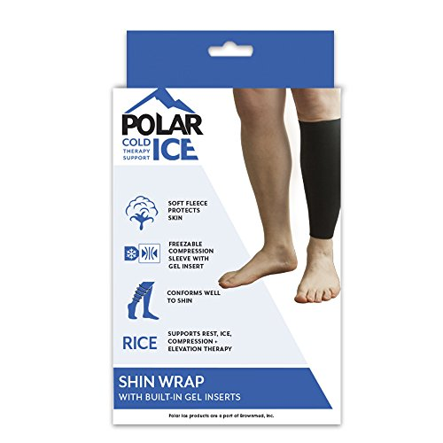 Polar Ice Shin Wrap, Cold Therapy Ice Pack, Large (Color may vary) by Brownmed (Image #4)