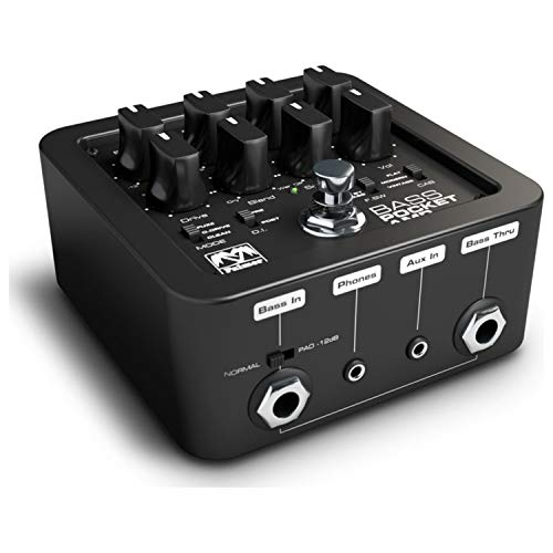 Palmer POCKET AMP BASS Portable Bass Preamp (Best Bass Amp For Recording)