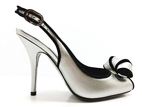 shoes-woman-sergio-rossi-7-us-37-eu-sandals-silver-black-leather-velvet-aw602