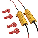 iBrightstar 50W 6ohm Load Resistors - Fix LED Bulb Fast Hyper Flash Turn Signal Blink Error Code