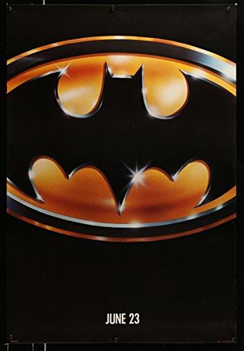 Batman teaser 1sh '89 directed by Tim Burton, cool image of Bat logo!