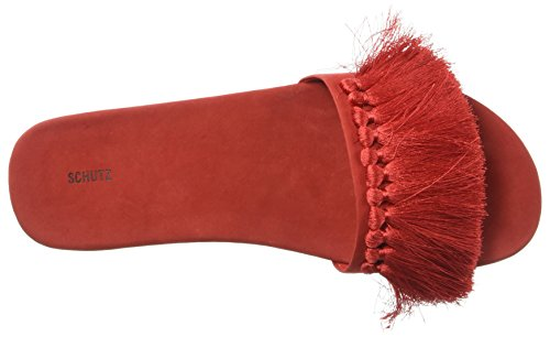 Schutz Mujeres Maduna Slide Sandal Summer Red
