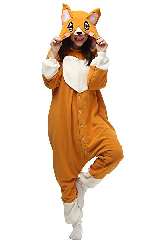 Cousinpjs Adult Cosplay Costume Animal Sleepwear Halloween Pajamas (Small, Corgi) -