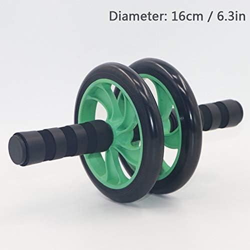 腹筋トレーニング用のAbローラーホイール、余分な厚い膝マット付きの腹部エクササイズローラー、ホーム/ジムコアワークアウトホイール、ワークアウトフィットネスホイールをスリミング