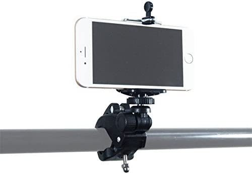 AGG1658 5S 5 Galaxy S5 S4 Cellphone Holder and Bluetooth Remote LimoStudio Photography Studio Action Camera Mount Tilt Mount Clamp with iPhone 6