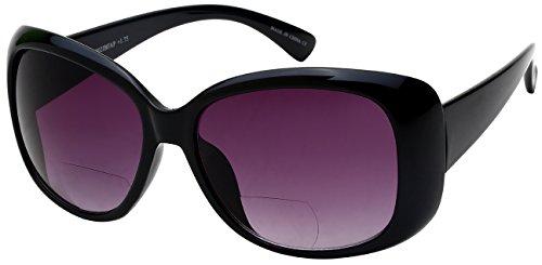 Edge I-Wear Square Jackie O Style Bifocal Sun Readers - Next Day Glasses Prescription