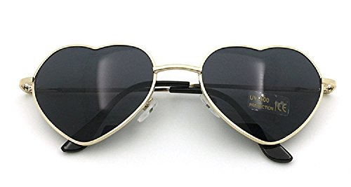 Flowertree Women's S014 Heart Aviator 55mm Sunglasses - Heart Wire Sunglasses Frame