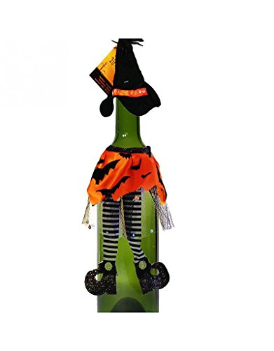 Halloween Party Wine Bottle Witch Hat Dress Cork