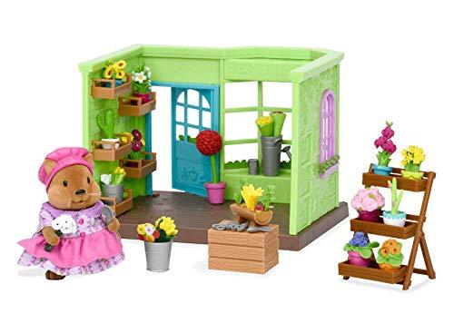 Lil Woodzeez Animal Figurine Playset and Accessories 31 Pieces Lil Blossoms Flower Shop