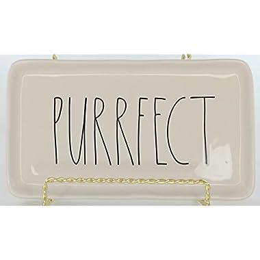 Rae Dunn Magenta Ceramic Plate Purrfect by Rae Dunn