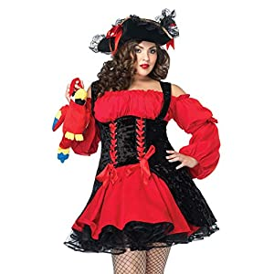 Leg Avenue Vixen Pirate Wench Double lace up Corset w/Velvet Dress Accessory