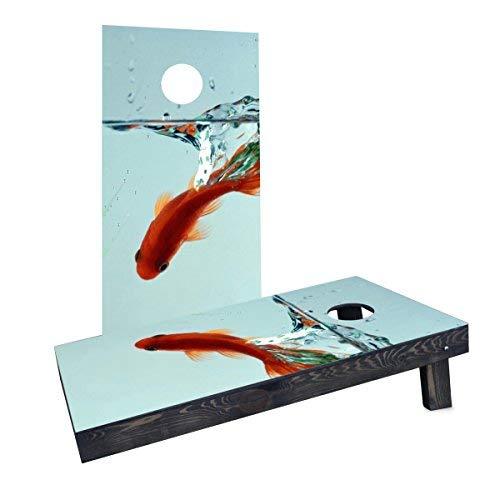 最新のデザイン Custom B07HLQ7GTB Cornhole Boards Incorporated CCB483-2x4-AW-RH Boards Goldfish Cornhole in Bowl Cornhole Boards [並行輸入品] B07HLQ7GTB, シュウトウチョウ:30f1266f --- albertlynchs.com