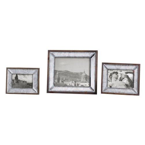 Daria Antique Mirror Photo Frames S/3 18567