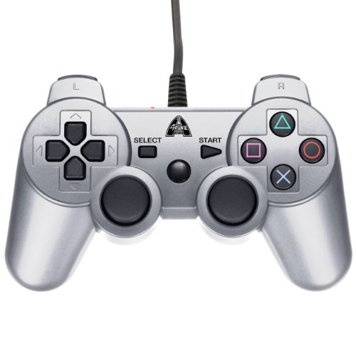 Arsenal Gaming AP3CON3S Wired Controller, Silver - PlayStation 3