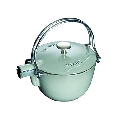 Staub 1 Quart Round Teapot, Graphite Grey