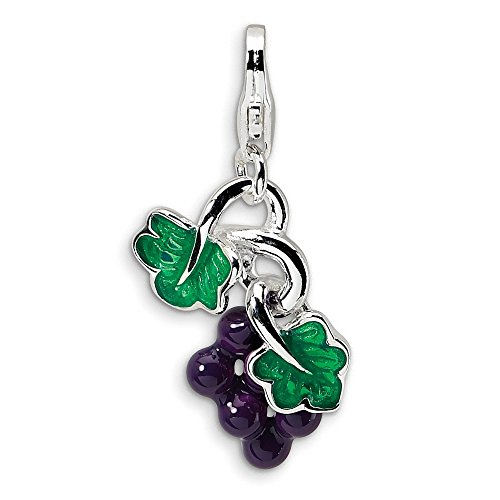 3-D Purple Grapes Charm In...