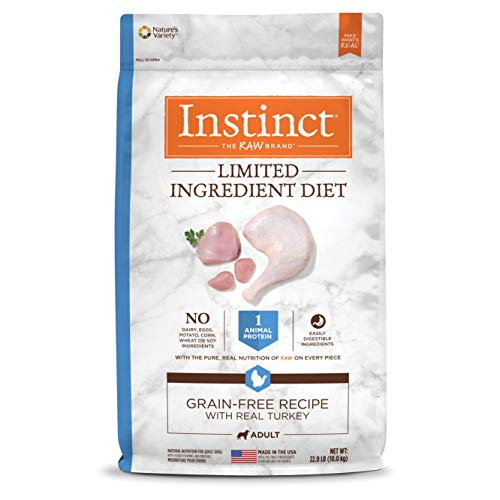 Instinct Limited Ingredient Diet Grain Free Recipe with Real Turkey Natural Dry Dog Food by Nature's Variety, 22 lb. Bag