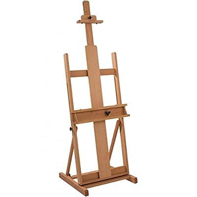 "Creative Mark Carolina Artist's H-Frame Wooden Studio Art Easel, Fully Adjustable Floor Easel 90% Assembled (60"" to 102"") - Beechwood"