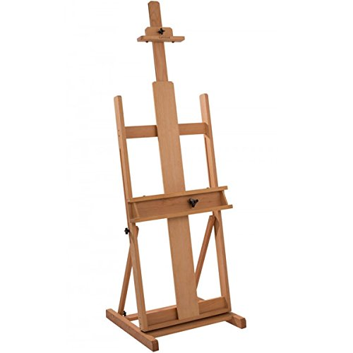 Creative Mark Carolina Artist's H-Frame Wooden Studio Art Easel, Fully Adjustable Floor Easel 90% Assembled (60'' to 102'') - Beechwood by Creative Mark