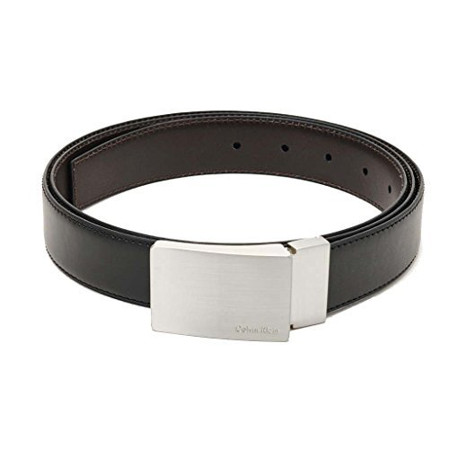 Calvin Klein Mens Leather Reversible Belt Accessory Set - 3 Piece (Black/Brown)