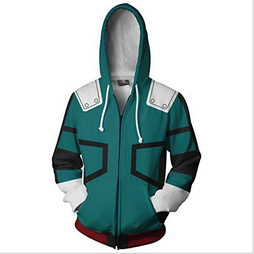 Boku No Hero Academia My Hero Academia zuku Midoriya Cosplay Costume Training Suit Jacket Unisex Thick Hoodies Green