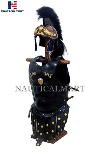 NAUTICALMART Royal Greek Muscle Armor Cuirass Greco Roman Helmet -