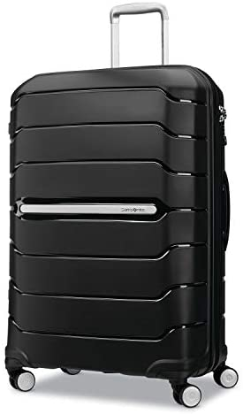 Samsonite Freeform Hardside Expandable with Double Spinner Wheels, Black, Checked-Large 28-Inch