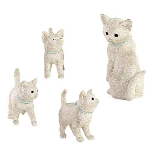 置くだけで楽しいストーリーが始まりそう FAMILY CAT ファミリーキャット ガーデンオーナメント KH-61032 〈簡易梱包 B07RTHRCT2