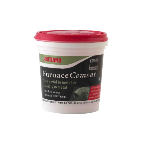 Rutland Products Black, 8 fl oz Furnace Cement,