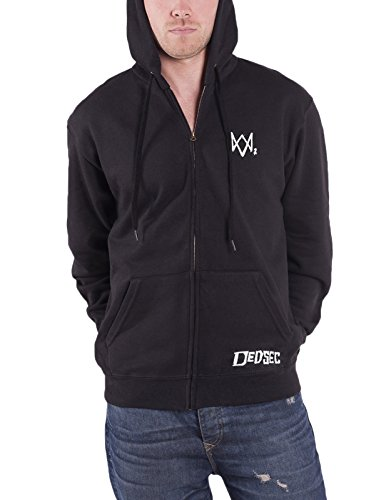 Watch Dogs 2 Hoodie Dedsec Logo Official Ps4 Xbox Mens Black Zipped