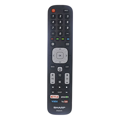 Factory Original Sharp EN2A27S LED HD TV Remote Control with Netflix, Amazon, Vudu and Youtube Buttons (Sharp Led Tv)