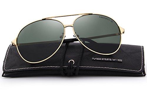Sunglasses Men Aviator Sun Glasses Green Color Brand Design - 6