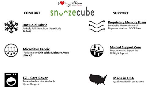 I Love My Pillow Snoozecube (Queen)