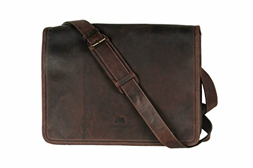 Rustic Town Leather Laptop Messenger