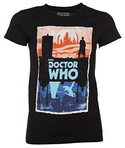 Womens Black Doctor Who Gallifrey And Skaro T Shirt