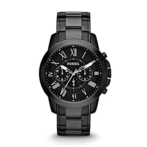 Fossil Grant Chronograph Analog Black Dial Men's Watch – FS4832