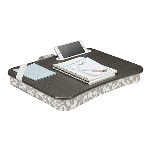 LapGear Designer Lap Desk - Gray Damask (Fits up to 15.6