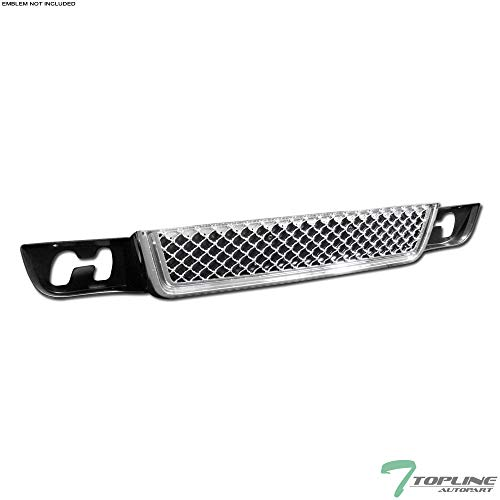 Topline Autopart Chrome Mesh Front Lower Bumper Grill Grille ABS For 07-14 GMC Yukon/XL/Denali