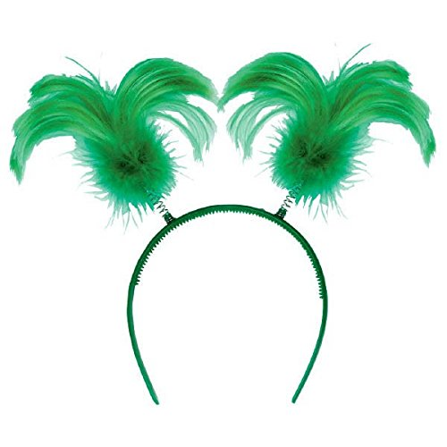 (Amscan St. Patrick's Day Green Feather Ponytail Headbopper | Party)
