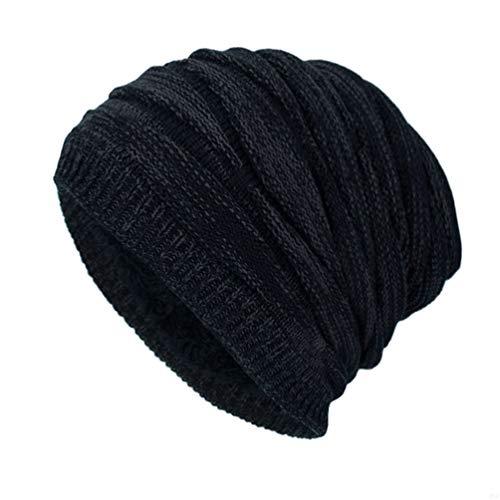 GADIEMENSS Fleece Hats for Women Mens Hats Winter Wooly Hat Fleece Lined Ski Beanie Mens Wooly Beanies Men Hats Outdoor Warm Fleece Lined Sport Hat Running Hiking Camping Beanie Black VM88