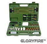 GLORYFIRE Universal Gun Cleaning Kit Hunting Rifle Handgun Shot Gun Cleaning Kit for All Guns with Case Travel Size Portable Metal Brushes (G-NO Gift)