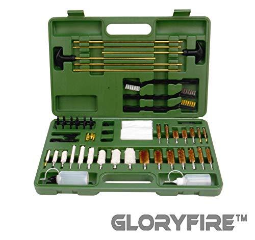 Hunting 410 Shotgun - GLORYFIRE Universal Gun Cleaning Kit Hunting Rifle Handgun Shot Gun Cleaning Kit for All Guns with Case Travel Size Portable Metal Brushes (G-NO Gift)