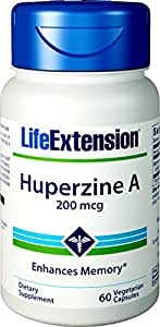 Life Extension Huperzine A 200 Mcg, 60 Vegetarian Capsules
